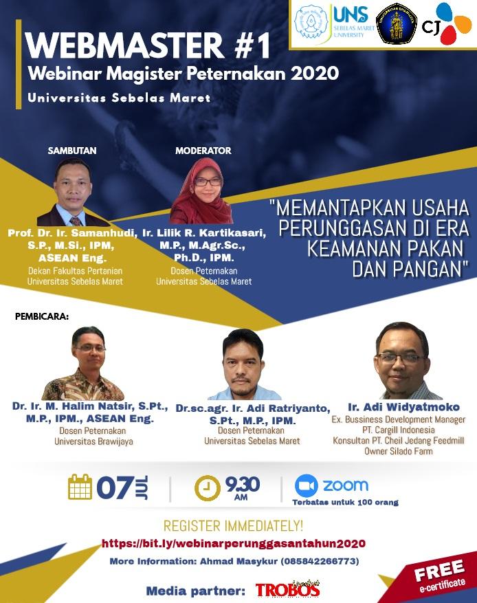 WEBMASTER #1 Webinar Magister Peternakan 2020
