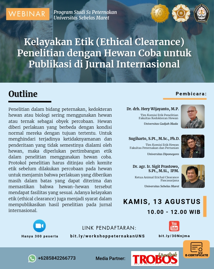 Workshop Animal Ethical Clearence