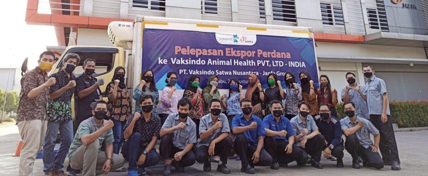 Ekspor Perdana Obat Hewan Vaksindo ke India