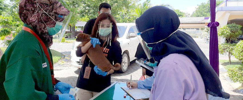 Vaksinasi Rabies Drive Thru Pertama di Indonesia