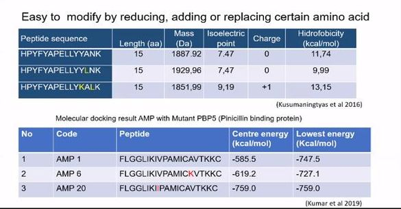 Peptida untuk Bioreseptor Pendeteksi Bakteri