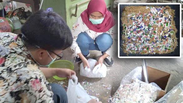 Mahasiswa Fapet UGM Sulap Limbah Bulu Ayam Menjadi Papan Partikel